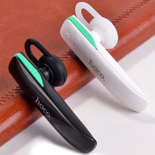 Микрофон с наушником, беспроводная моно гарнитура Hoco E1 Wireless Earphone White, hands free - белая