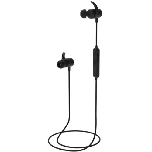 Bluetooth наушники вкладыши с микрофоном Ritmix RH-490BTH, V5, беспроводная мобильная гарнитура, чёрные,металл. кейс