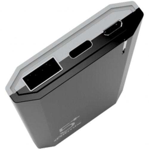 Внешний аккумулятор powerbank Ritmix, RPB-5002, 5000 мА-ч, 2(USB плюс  Type C), 2.1А, чёрный