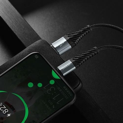 Кабель микро USB*2.0 Am-microB Hoco X38 2.4A Black, черный - 1 метр
