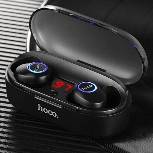 Bluetooth наушники вкладыши с микрофоном TWS Hoco ES24 Joyous Black, беспроводная мобильная гарнитура, черные