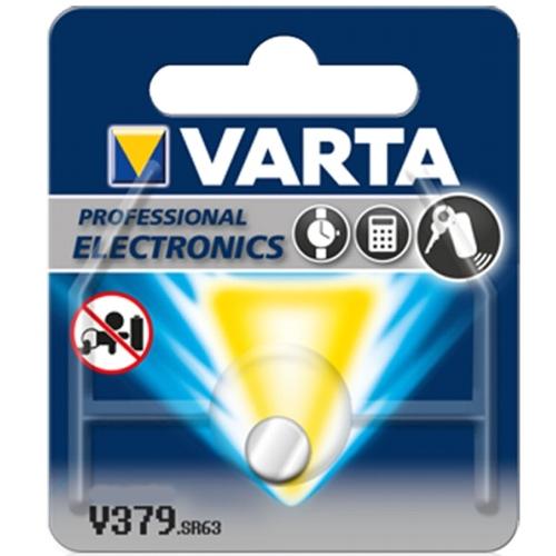 Батарейка для часов Varta V379 SR63 1.55V, 16mAh, 5.8x2.1mm, в блистере 1шт.