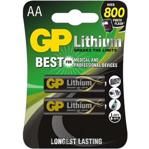 Батарейка AA литиевая GP Lithium FR 6-2BL 1.5V в блистере 2шт.