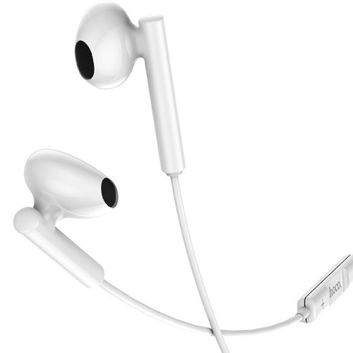 USB Type-C наушники вкладыши с микрофоном Hoco M65 Special Sound White, мобильная гарнитура, штекер USB-C, белые
