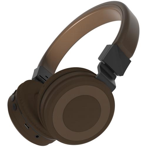 Bluetooth наушники с микрофоном Ritmix RH-433BTH Brown, беспроводная полноразмерная гарнитура. FM-радио