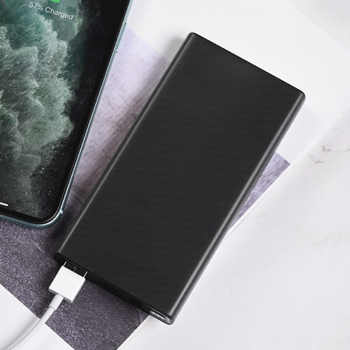 Внешний аккумулятор powerbank Hoco, J55 Neoteric Black, 2 порта USB, Type-C, MicroUSB, 2А, 10000 мАч, черный
