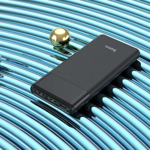 Внешний аккумулятор powerbank Hoco, J58 Cosmo 2 порта USB, Type-C, MicroUSB, поддержка QC3.0-PD 18W, 10000 мАч, черный