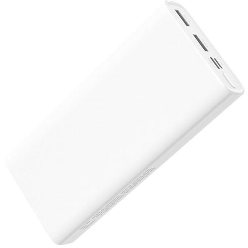 Внешний аккумулятор powerbank Hoco, J55A Neoteric Black, 2 порта USB, Type-C, MicroUSB, 2А, 20000 мАч, белый