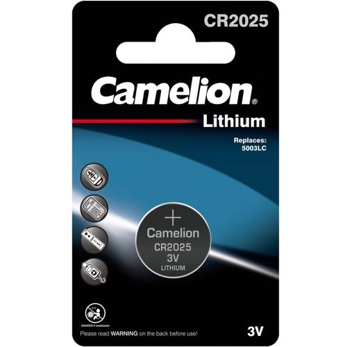 Батарейка CR2025 3В литиевая Camelion  в блистере 1шт.