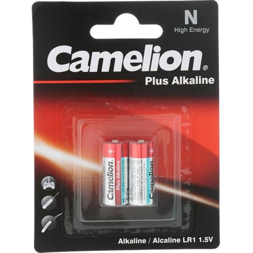 Батарейка LR1 Camelion Plus Alkaline щелочная  в блистере 2шт.