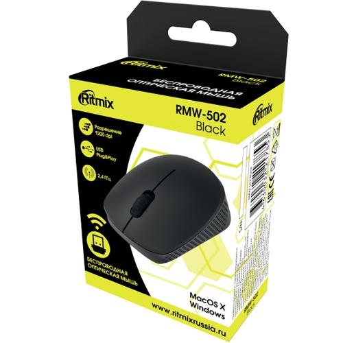 Мышь беспроводная usb Ritmix RMW-502 чёрная