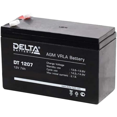 Аккумуляторная батарея 12 В для ИБП-UPS 7.0 А-ч Delta DT 1207 клеммы F1, электролит AGM