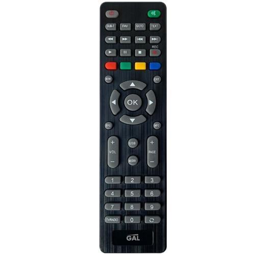 Пульт дистанционного управления GAL LM-P160 универсальный для приемников DVB-T2, IPTV, STB и ТВ, черный