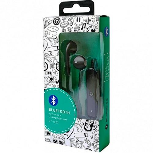 Bluetooth наушники вкладыши с микрофоном Vixter BT-1007 беспроводная мобильная гарнитура, черные