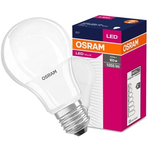 Лампа OSRAM LED Star E27 A60 10Вт, светодиодная LED, 1055 лм, эквивалент 100Вт, нейтральный свет 4000К
