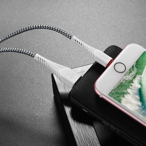 Кабель USB*2.0 Am - Lightning Borofone BX25 White, белый - 1 метр