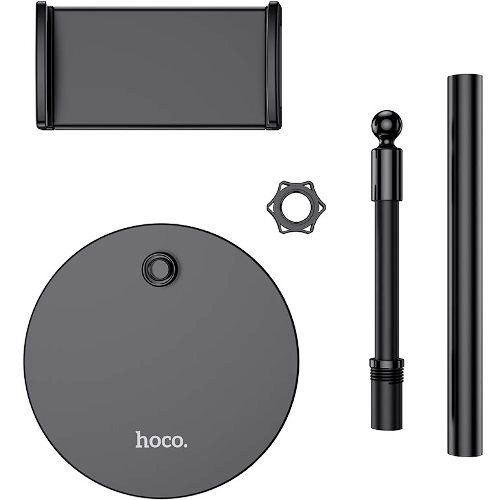 Держатель настольный Hoco PH30 Black для телефона и планшета 4.7-10, регулируемый, черный