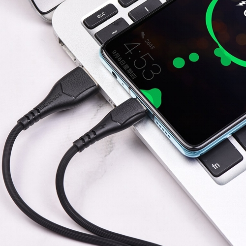 Кабель USB*2.0 Cm-Am Borofone BX37 Black, черный - 1 метр