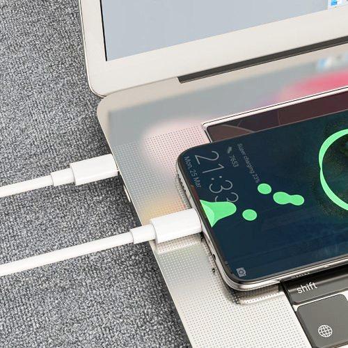 Кабель USB Cm-Cm Hoco X51 5A High-Power PD 100W, подходит для зарядки ноутбуков 20В, белый - 2 метра