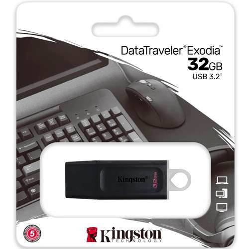 Флешка Kingston DataTraveler Exodia 32 Гб usb 3.0 Flash Drive - черная