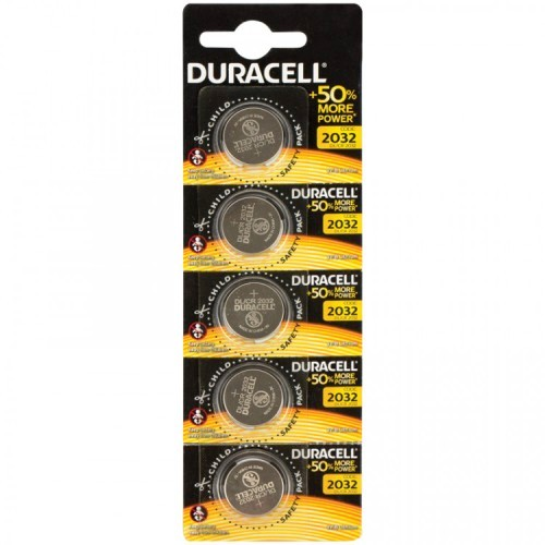 Батарейка CR2032 3В литиевая Duracell упаковка 5 шт.