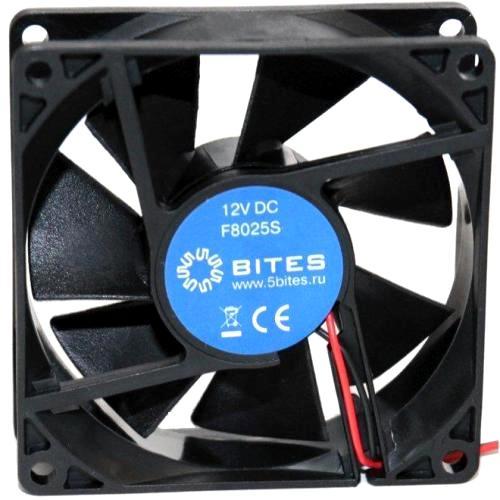 Вентилятор 80 x 25мм 5Bites F8025S-12L2 12V втулка скольжения 2pin 15см 2000 об*мин
