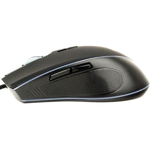 Мышь игровая Gembird MG-800,тканевый провод 1,8 м ,чёрная,3200DPI