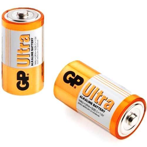 Батарейка C щелочная GP Alkaline Ultra LR14 в блистере 2шт.