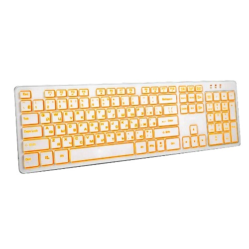 Клавиатура Dialog KK-ML17U White Katana multimedia стандартная с янтарной подсветкой, белая