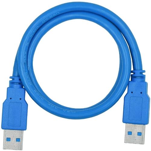 Кабель USB*3.0 Am-Am соединительный 5Bites UC3009-005 - 0.5 метра, синий