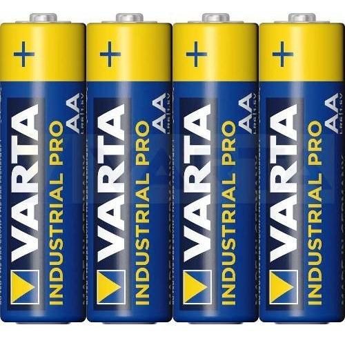 Батарейка AA щелочная Varta Industrial PRO LR6-4SH в пленке 4 шт.