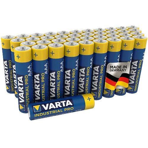 Батарейка AAA щелочная Varta Industrial PRO LR3-4SH в пленке 4 шт.