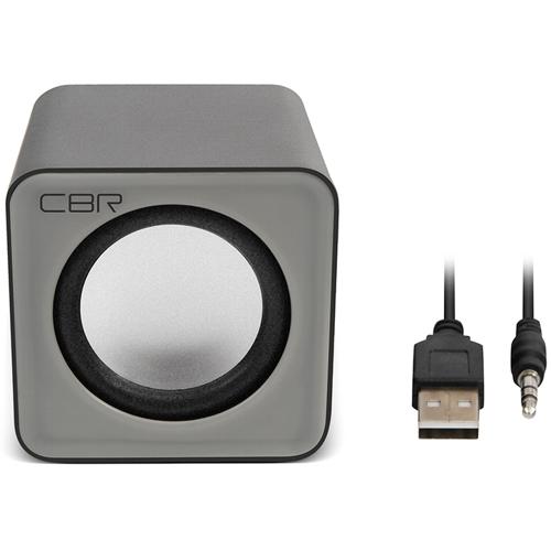 Колонки CBR CMS-90 питание от usb, 3 Вт - серые