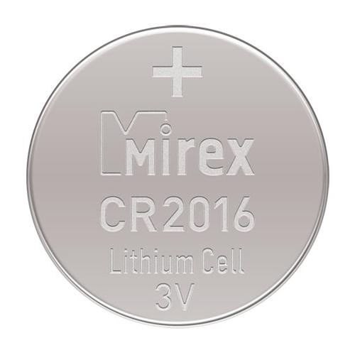 Батарейка CR2016 3В литиевая Mirex в блистере 2 шт.