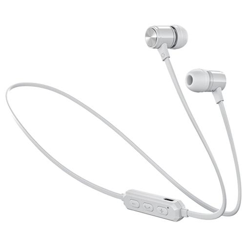 Bluetooth наушники вкладыши с микрофоном Vixter BT-1100 беспроводная мобильная гарнитура, белые