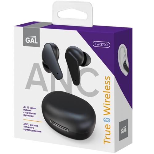 Bluetooth наушники вкладыши с микрофоном GAL TW-3700, TWS, V5, беспроводная мобильная гарнитура, черные