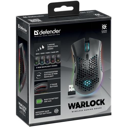 Мышь игровая беспроводная Defender Varlock GM-709L
