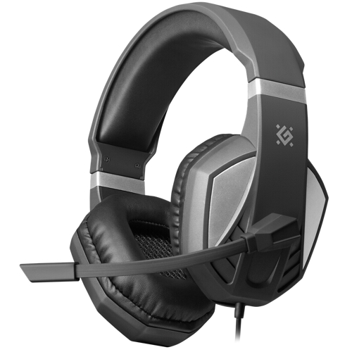 Игровые наушники с микрофоном Defender  ZEYROX чёрно- серые , кабель 1,8 метра