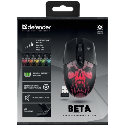 Мышь игровая беспроводная Defender Beta GM-707L