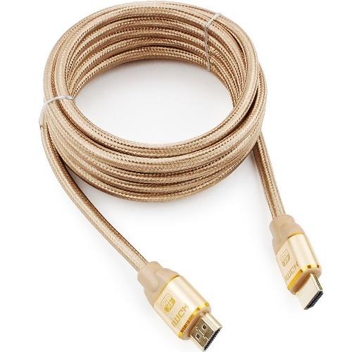 Кабель HDMI Cablexpert CC-G-HDMI03-7.5м Gold