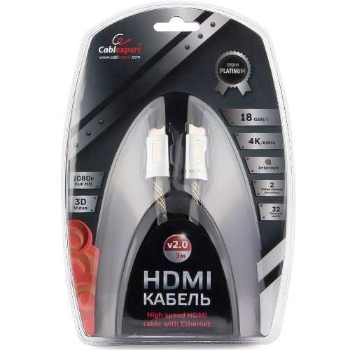 Кабель HDMI Cablexpert  CC-P-HDMI02-3M Platinum