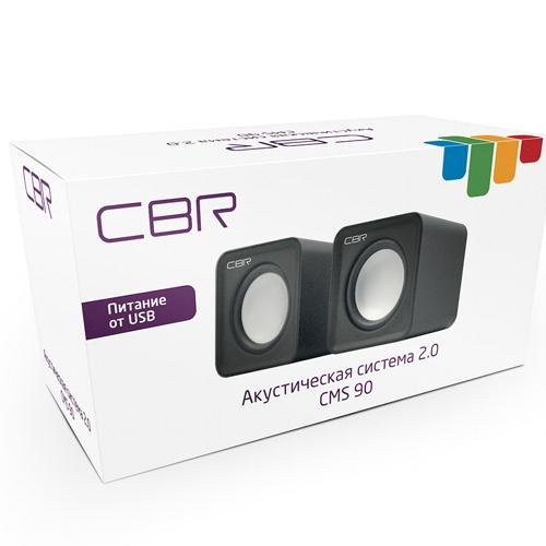 Колонки CBR CMS-90 питание от usb, 3 Вт - жёлтые