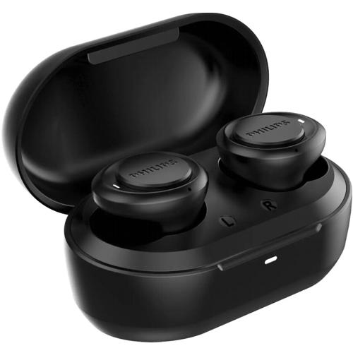Bluetooth наушники вкладыши с микрофоном TWS Philips TAT1215BK-10 беспроводная мобильная гарнитура, чёрные
