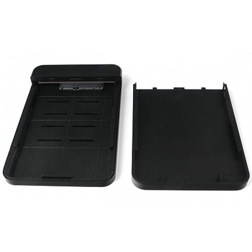 Корпус для SSD-HDD AgeStar 31UB2A18 (Black) 2.5 SATA контейнер, алюминий-пластик, черный, usb 3.1